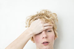 Serious Problems - Headache Royalty Free Stock Photography