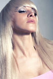Blond Girl. Healthy Long Blond Hair. Royalty Free Stock Photos