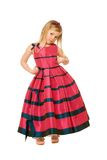 Blond girl in a long dress Royalty Free Stock Image