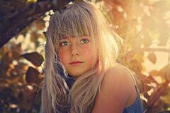 Blond girl looking at camera Royalty Free Stock Photo