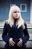 Blond girl outside Royalty Free Stock Image
