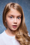 Blond girl portrait royalty free stock photography