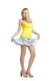 Blond girl portrait full Stock Photos