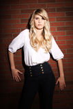 Blond girl posing Stock Photos