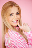 Blond girl posing Stock Images