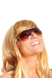 Blond girl smiling Royalty Free Stock Photo