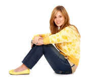 Blond girl smiling Royalty Free Stock Images