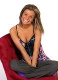 Blond girl in studio Royalty Free Stock Photo