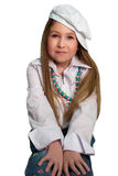 Blond girl wearing the hat Stock Photo