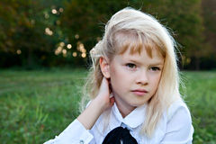 Blond girl Stock Photos