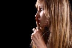 blond glamourkvinna Royaltyfri Foto