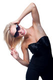 Blond in glasses on white Stock Images