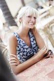 Blond glimlachen Royalty-vrije Stock Fotografie