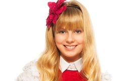 Blond glimlachend meisje Stock Fotografie