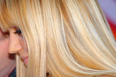 Blond-golden hair Royalty Free Stock Photography