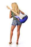 Blond with guitar Royalty Free Stock Photos