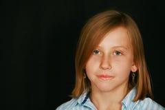 blond gullig flicka Royaltyfria Foton