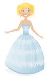blond gullig princess Arkivfoto