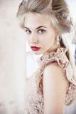 Blond härlig modell arkivfoton