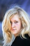 blond hårkvinna royaltyfri bild