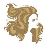 blond hårståendekvinna Royaltyfri Foto