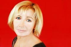 blond hög kvinna Fotografering för Bildbyråer