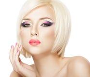 Blond haarmeisje Royalty-vrije Stock Foto's