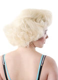 Blond  hair#2. The attractive blonde in similar to Monroe Royalty Free Stock Photos