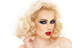 Blond hair royalty free stock photography