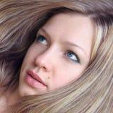 Blond hair. Blue eyes girl Stock Photography