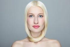 Blond hair royalty free stock photo