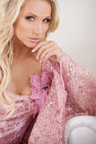 Blond hair beauty. Royalty Free Stock Images