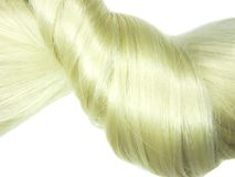 Blond hair braid Royalty Free Stock Image