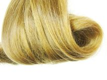Blond hair coiffure Royalty Free Stock Photo