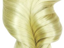 Blond hair coiffure Royalty Free Stock Image