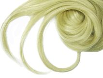 Blond hair curls Royalty Free Stock Images