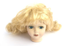 Blond Hair Girl Dolly Head Royalty Free Stock Image
