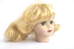 Blond Hair Girl Dolly Head Stock Photo