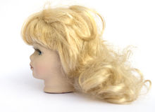 Blond Hair Girl Dolly Head Royalty Free Stock Images