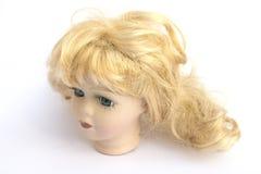 Blond Hair Girl Dolly Head Stock Photography