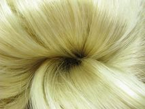 Blond hair knot Stock Photography