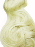 Blond hair long curls Royalty Free Stock Image