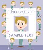 Blond hair man White text box Stock Photo