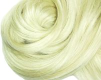 Blond hair texture creative coiffure Stock Image