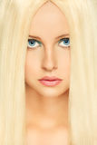 Blond hair woman with blue eyes. Retouched Royalty Free Stock Photo