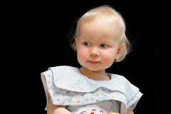 Blond haired female toddler Royalty Free Stock Photography