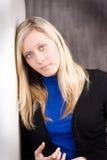 blond haired tonåring Fotografering för Bildbyråer