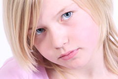 Blond haired young girl Royalty Free Stock Images