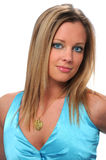Blond haired young woman Royalty Free Stock Photo