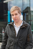 Blond handsome guy Royalty Free Stock Photos